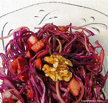 Apple Warmed Red Cabbage