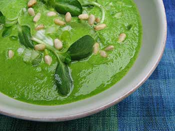 Spinach, Avocado, Basil Soup