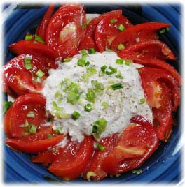 Tomatoes with Seed Cheese